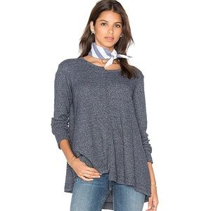 Wilt revolve Shifted crew long sleeve waffle knit